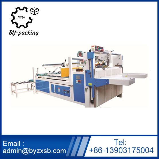 Semi-Auto Folder Gluer of Corrugated Carton Box Making Machine