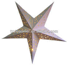 Decoration Hanging Folding Decorations Paper Five-pointed Star/Star Of Decorations(SDZ-520)