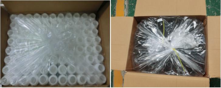 45 ミリリットル薬物グレード正方形婦人科洗浄液ローションプラスチックボトル