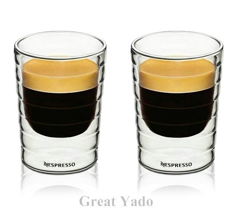 set of 2pcs hand blown double wall nespresso coffee glass cup mug thermal glass caneca copos. Black Bedroom Furniture Sets. Home Design Ideas