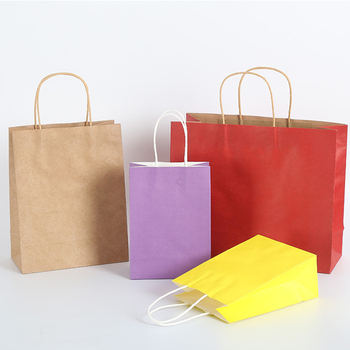 New product recycled gift paper tote bag with logo print