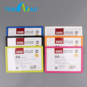 Top Quality Business Card Holder Magnetic A6 Cardboard Acrylic Display With Sign