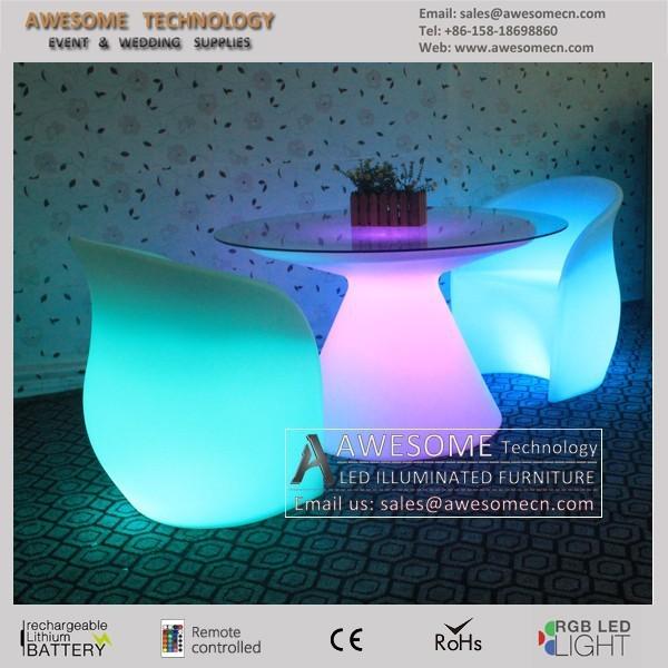 Chaise de jardin lumineux deco mariage table lumineux - Chaise de jardin pvc ...