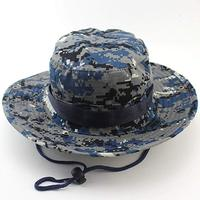 Wholesale Adult Novelty Custom Military Dark Blue Bucket Hats