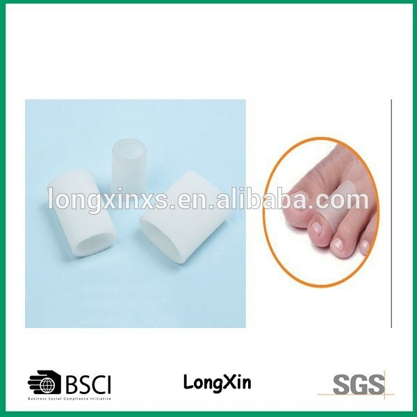 LX-0809-2 comfortable gel toe tubes gel toe protector toe covers