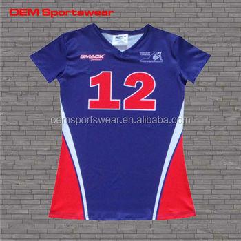 Camisetas Equipo Uniforme Corta Mujeres Sublimación Completo Manga Del Voleibol wHYxO8CCq