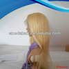 China alibaba factory aaaaa grade no shedding no tangling brazilian human hair blonde lace front wigs wavy
