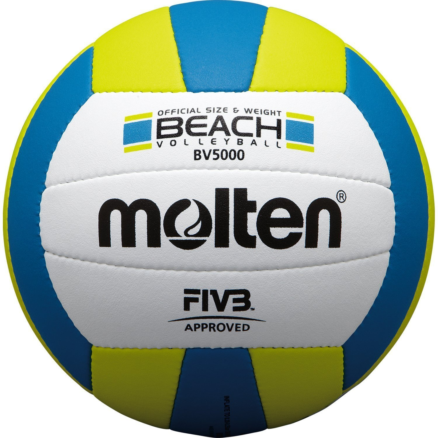 Molten Elite Beach Volleyball BV5000 (FIVB Approved, Official Outdoor Volleyball of USA Volleyball, Blue/Yellow)