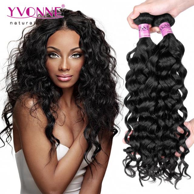 Yvonne Peruvian Unprocessed Human Hair Italian Curly Hair Weave