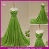 SW1023 China custom made organza green colored turquoise wedding dress
