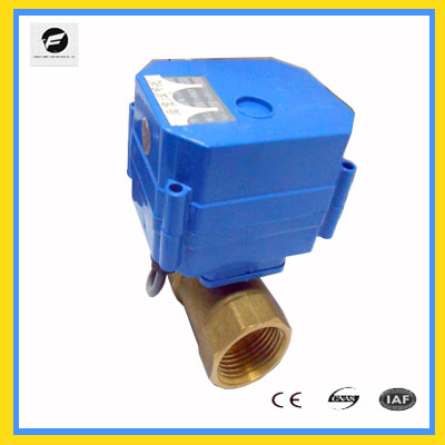 24v full port electrical actuator ball vavle DN25 CWX-15 Series 2way/3way Brass
