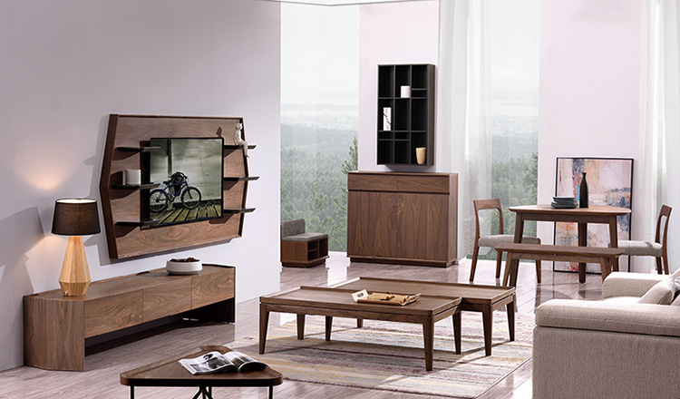 TV stand wooden furniture tv showcase coffee table set