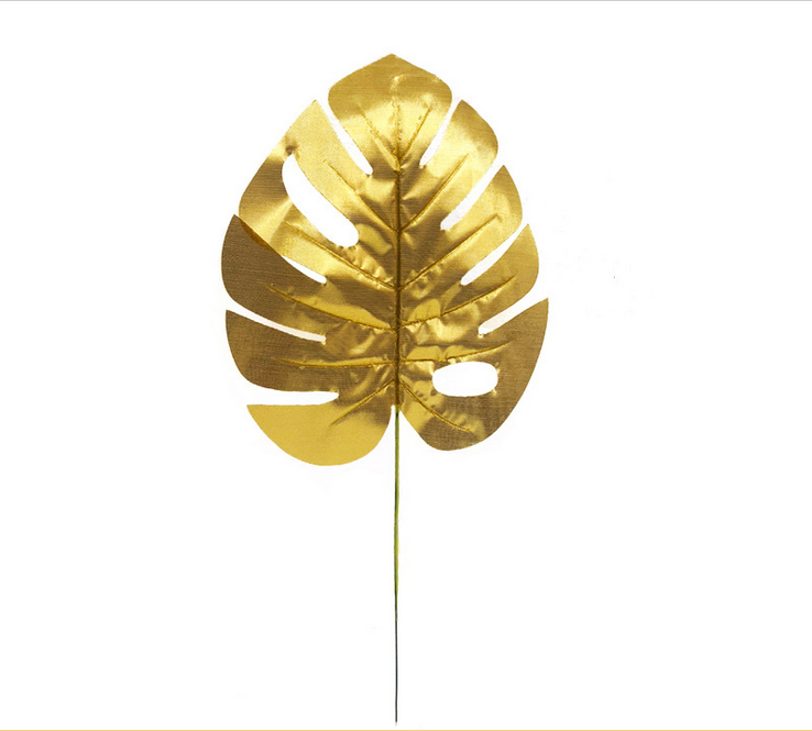 Wholesale Multiple Sizes Golden Leaves Plastic Artificial Gold