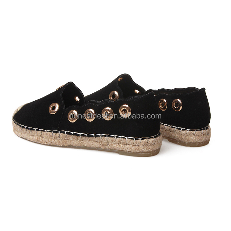 New arrival women casual health care breathable woven sole durable anti-slip big size loafers