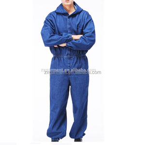 2017 OEM unisex jeans overall coverall uniforms workwear
