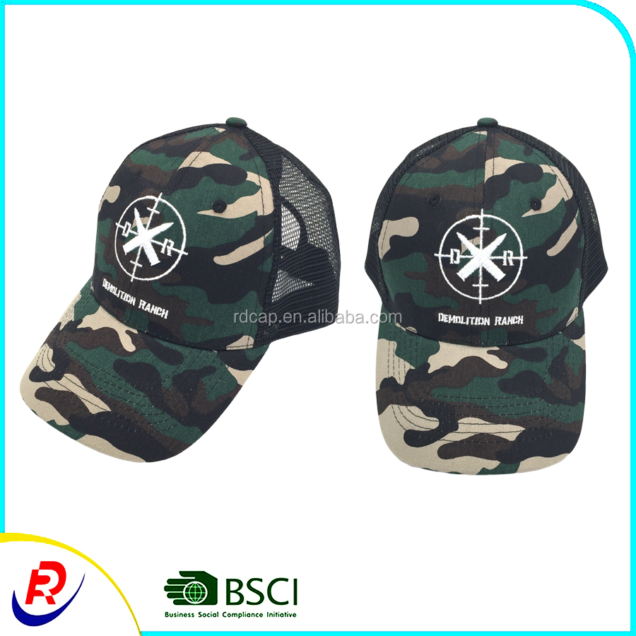 Bullet camo casquette daddy hats military mesh trucker caps street headwear  custom multicam hats 54492a9589d