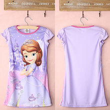 New Kids Baby Girls Party Sofia Princess Summer Short Sleeve font b Fancy b font font