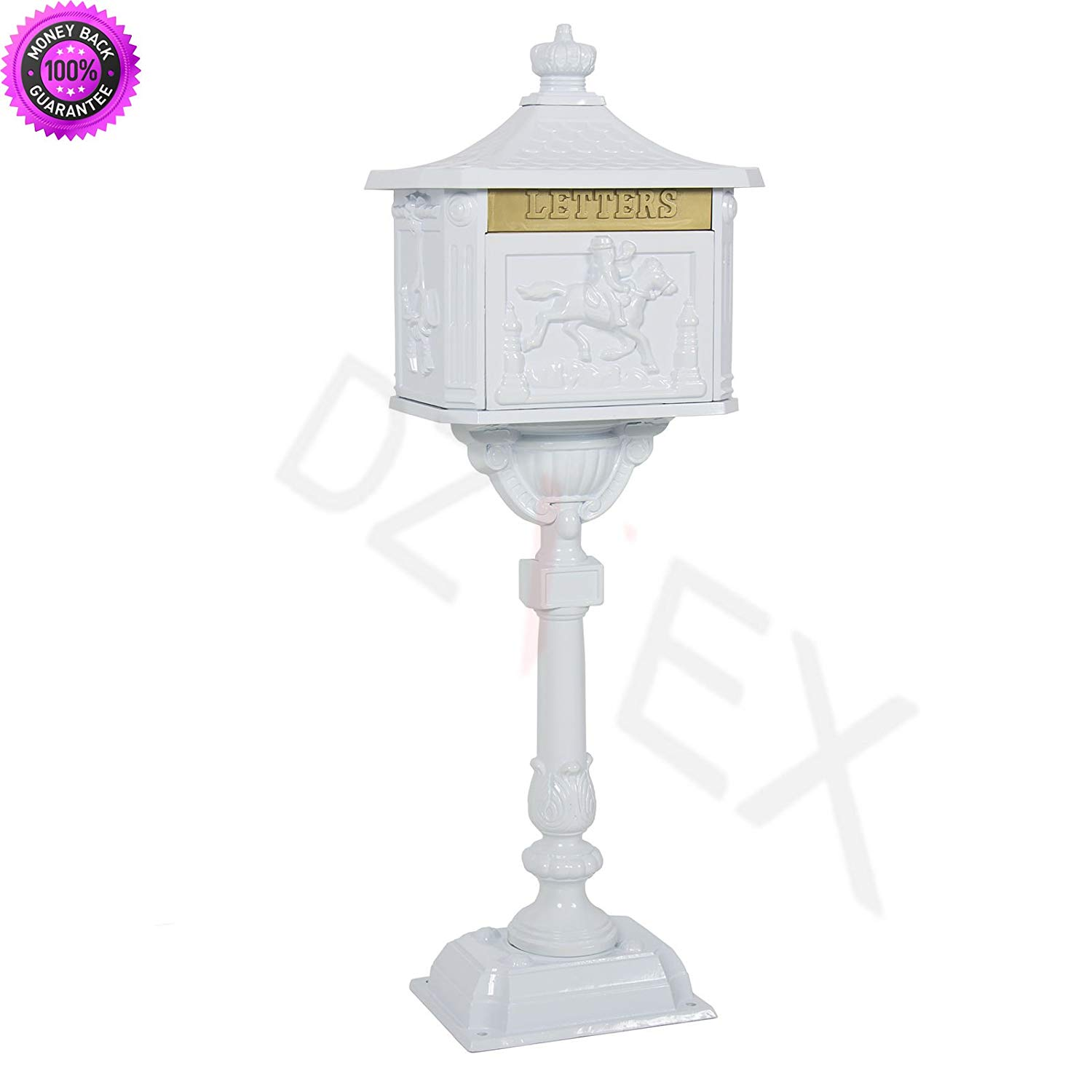 DzVeX_Mailbox Cast Aluminum White Mail Box Postal Box Security Heavy Duty New And wall mail slot door mail slots large mail slot home depot mail slot insulated mail slot through wall mail slot sleev