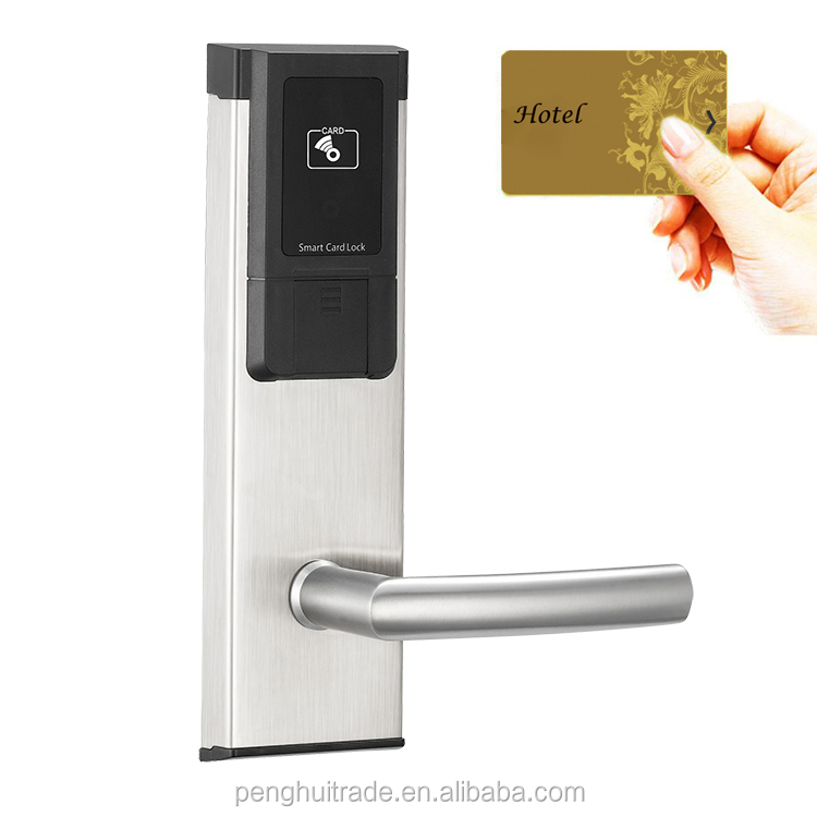 2017 Stainless steel RFID card electronic smart card reader door lock