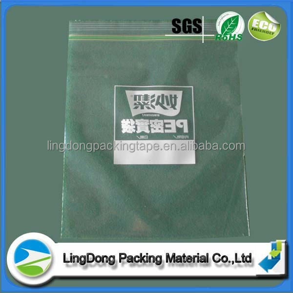 Alibaba Custom Printed Transparent Zip Lock Bags Zipper Plastic Bags with Top Sealing