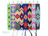 Wholesale Latest Bijoux Trendy Handmade Friendship Charm Colorful Wrap Glass Seed Bead Bracelets For Women And Men Jewelry