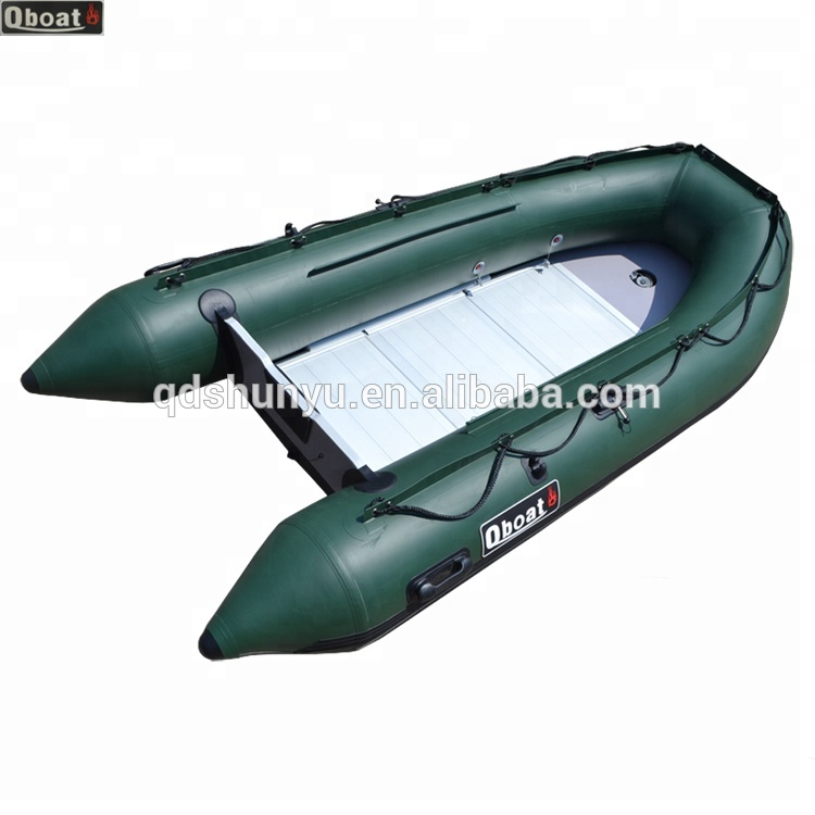 CE korea PVC material 3.0m 4 persons inflatable fishing boat made in china