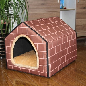 2018 Pet Dog Sleeping Nest With Mat Foldable Pet Dog Bed Cat Bed House For Small Medium Dogs Travel Pet Supplies