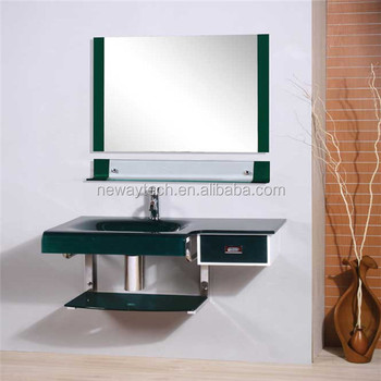 Competitive Price Wall Mounted Glass Cabinet Corner Wash Basin