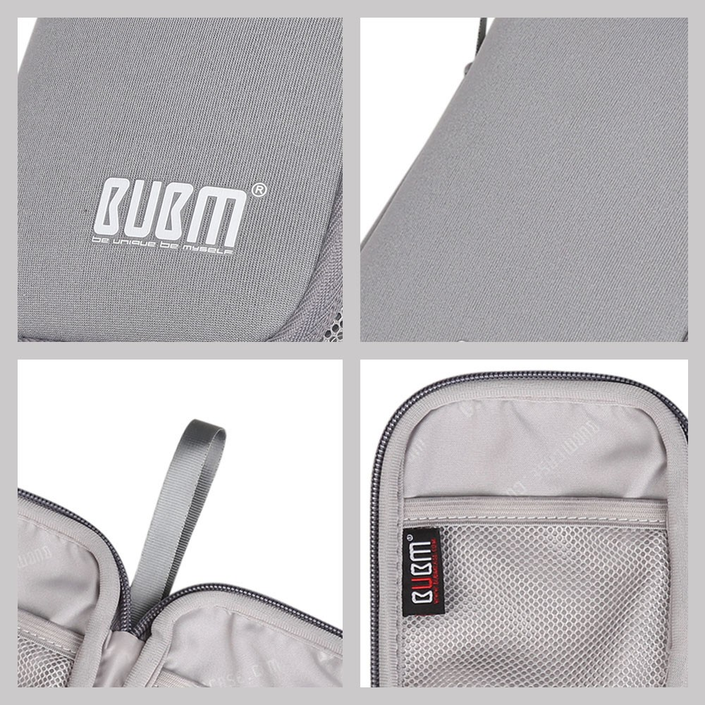 BUBM portable hard disk drive soft bag shockproof travel storage bags for external hard drive HDD battery charger carry case