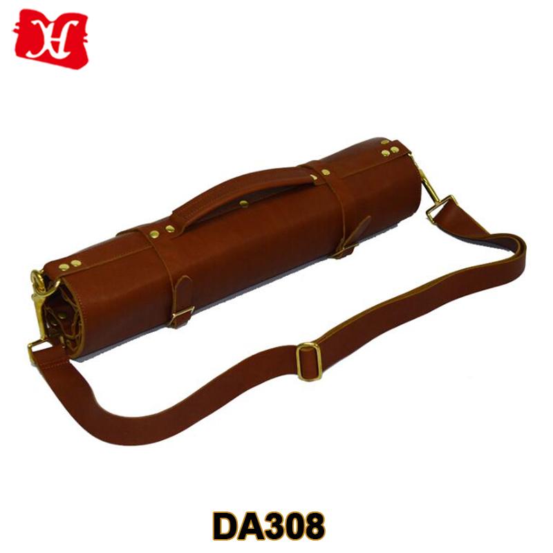 Custom Vintage Stil Leder Aufrollen Tasche Kochmesser Rolle Tasche  Werkzeugtasche Für Bartender
