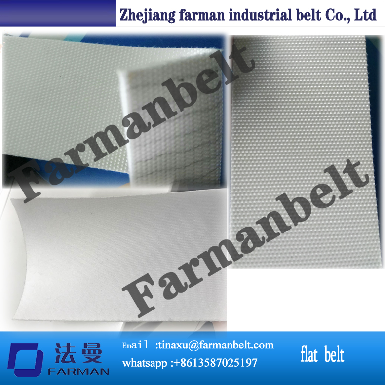2 ply pu belts for food handling with cotton top to prevent pita dough from sticking