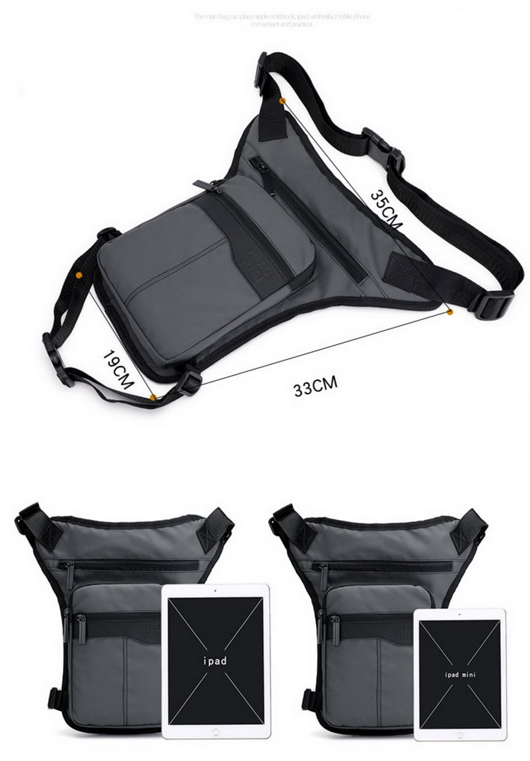 Tactical Military Travel Shoulder Waist Fanny Pack Army Drop Leg Thigh Messenger Bag