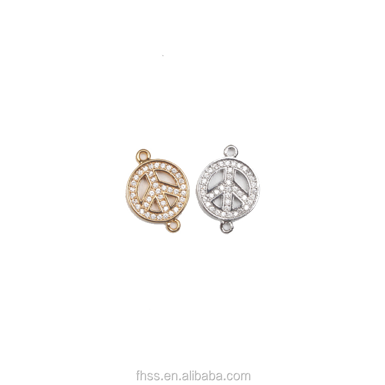 pave cz beads connecter,cz jewelry, gold bead landing jewelry pjxy110037048