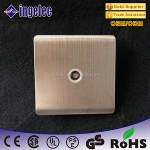 Crt 86*86mm euro style satellite tv socket, satellite tv outlet