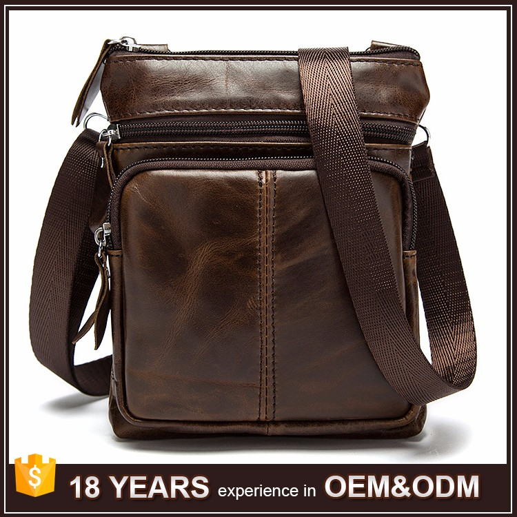 New Design Fashion Mens Genuine Italian Leather Bag Wholesale