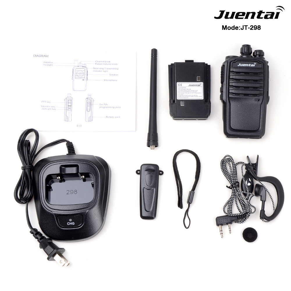 Juentai JT-298 Analog Dua Cara Radio PC Programmable Channel Scan Tot Ctcss/DCS DTMF Walkie Talkie