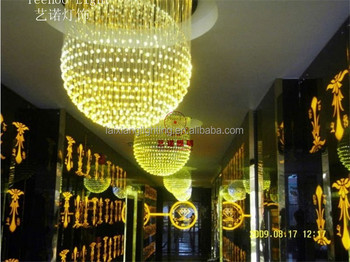 Size Customized Color Changeable Fiber Optic Crystal Chandelier ...