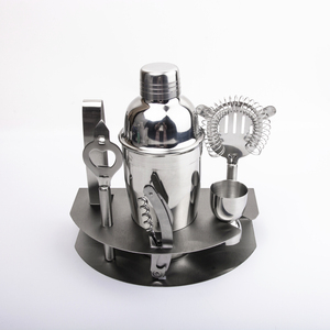 Vendita calda 7 pcs 550 ml bar a casa mixology in acciaio inox cocktail shaker set