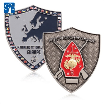 Factory Custom Souvenir US Military Challenge Flag Coin