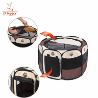 Hot Selling Foldable Camping Kennel Tent,Pet Playpen 8 Panel Camping Dog Tent,Foldable Cat Playpen