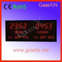 Supply CE,RoHS approved digital time led world clock