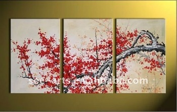 Chinese Oil Painting Abstract Cherry Blossom Plum Blossom Flower ...