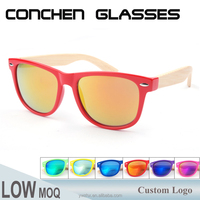 Top quality bamboo temples pc frame sunglasses