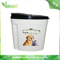 stackable plastic storage pet food container