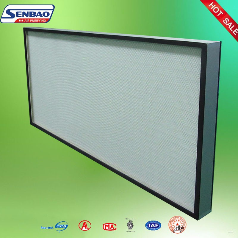 Clean Room Air System High Efficiency Fiberglass Media Ceiling Vent Filters
