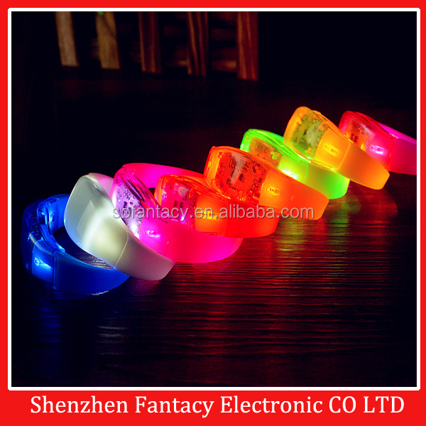 2017 NEW!!cheapest voice sound actived led bracelet wristband,light up led bracelet