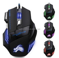New 5500 DPI 6D 7 Keys LED Optical USB Wired Gaming Mouse Mice For Pro Gamer