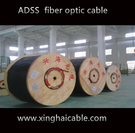 ADSS 350M span 12 core AT outer sheath fiber optic cable