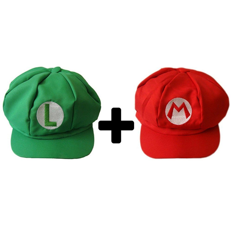 Get Quotations · Super Mario Bros Mario and Luigi Hats 6c46e7c53635