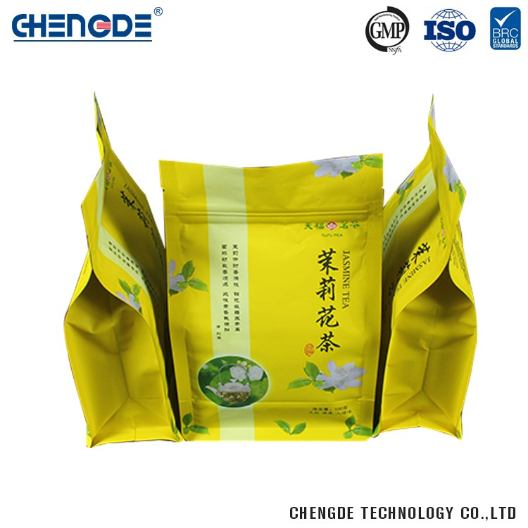 Resealable Factory Supply Beautiful Design Tea Packaging Bag